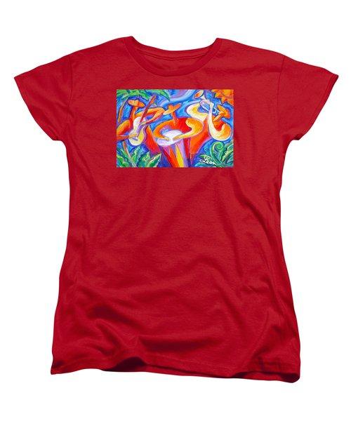 Hot Latin Jazz Women's T-Shirt (Standard Cut) by Leon Zernitsky