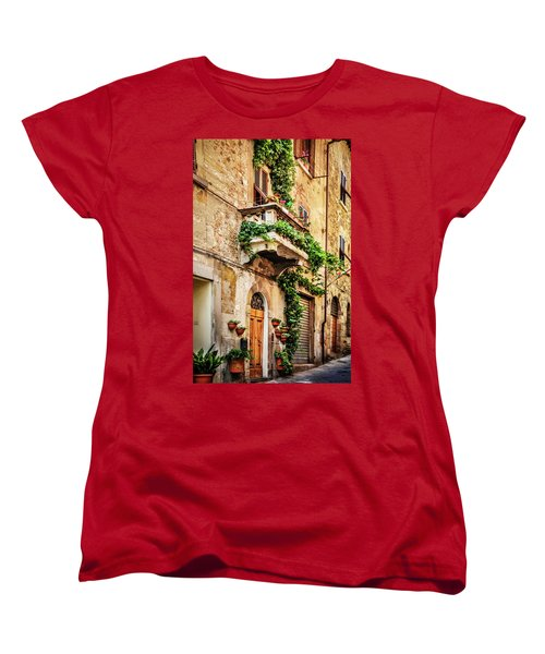 Women's T-Shirt (Standard Cut) featuring the photograph House In Arezzoo, Italy by Marion McCristall
