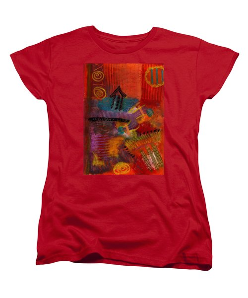 Women's T-Shirt (Standard Cut) featuring the painting House Of Laughter by Angela L Walker