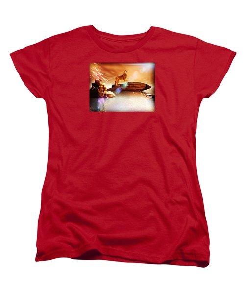 Howling Wolf Women's T-Shirt (Standard Cut) by Jacqueline Lloyd