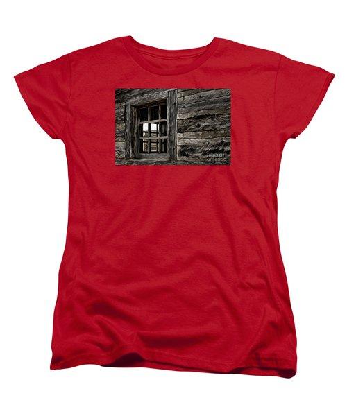 Women's T-Shirt (Standard Cut) featuring the photograph Hudson Bay Fort Window by Brad Allen Fine Art
