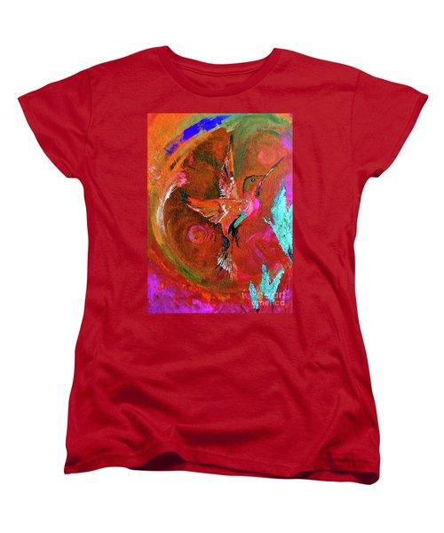 Hummingbird Women's T-Shirt (Standard Cut) by Lisa Kaiser