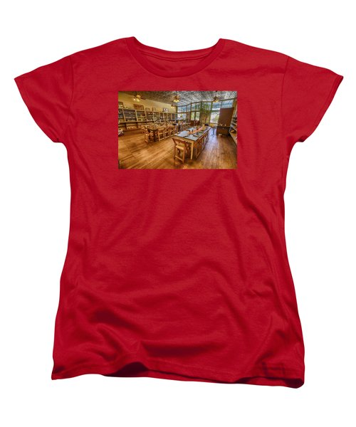 Women's T-Shirt (Standard Cut) featuring the tapestry - textile Hye Market General Store by Kathy Adams Clark