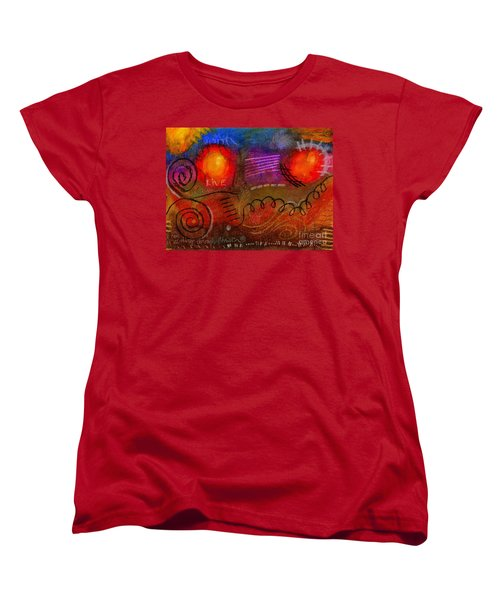 Women's T-Shirt (Standard Cut) featuring the painting I Can Do All Things by Angela L Walker