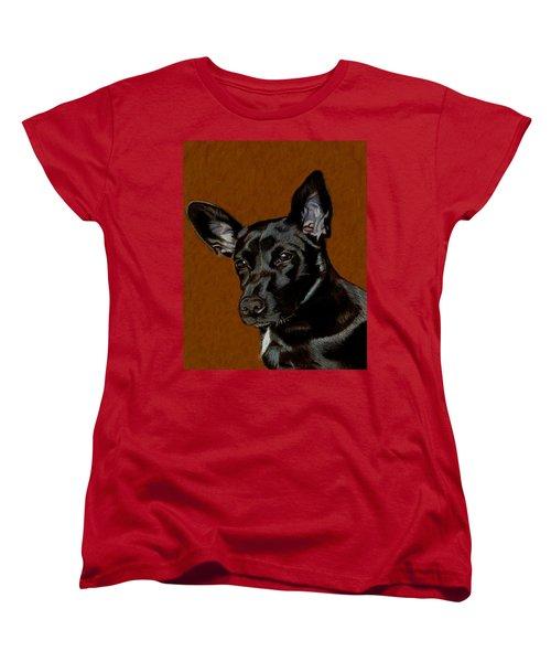 I Hear Ya - Dog Painting Women's T-Shirt (Standard Cut) by Patricia Barmatz