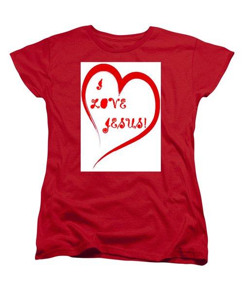 I Love Jesus Women's T-Shirt (Standard Cut)