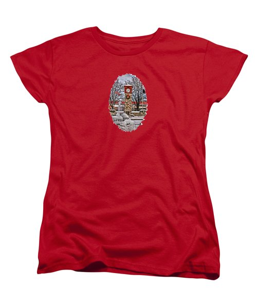 Women's T-Shirt (Standard Cut) featuring the photograph Ice Cold Holiday by DJ Florek