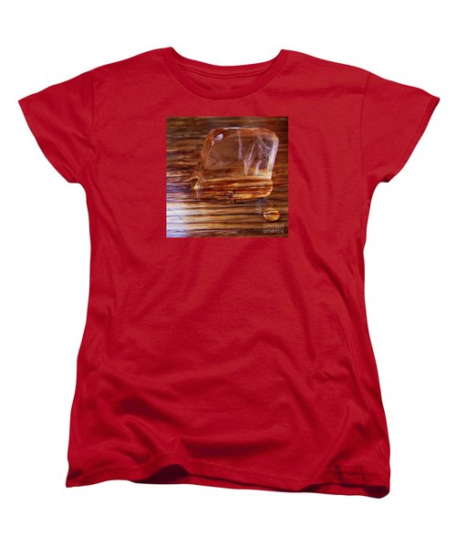 Women's T-Shirt (Standard Cut) featuring the photograph Icecube Trail by Vanessa Palomino