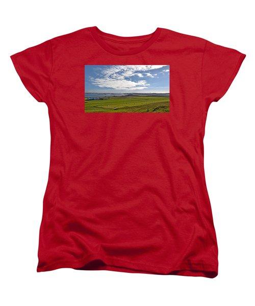 Women's T-Shirt (Standard Cut) featuring the photograph Icelandic Panorama by Joe Bonita