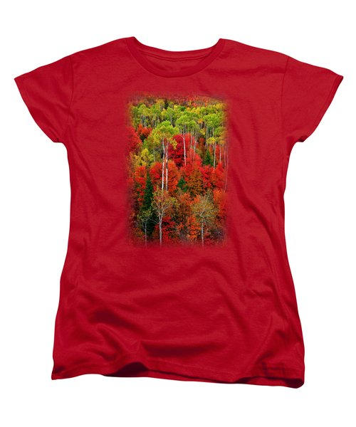 Idaho Autumn T-shirt Women's T-Shirt (Standard Cut) by Greg Norrell