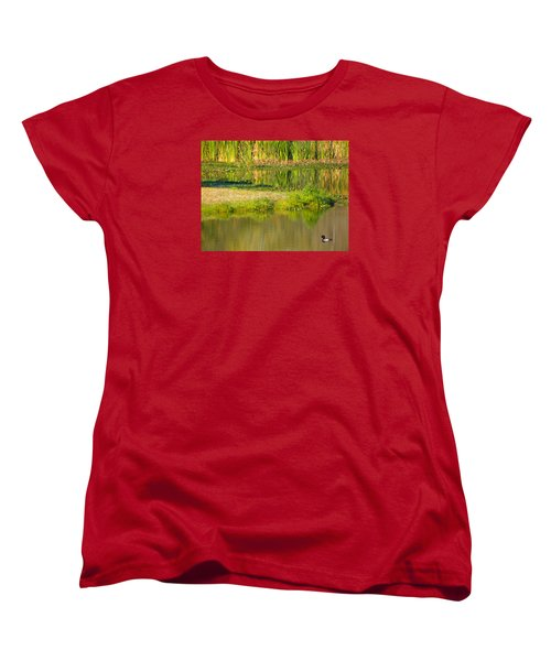Women's T-Shirt (Standard Cut) featuring the photograph Illusion Confusion by Rosalie Scanlon