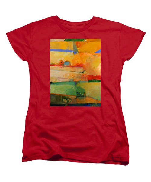 Women's T-Shirt (Standard Cut) featuring the painting I'm In Corn  by Cliff Spohn