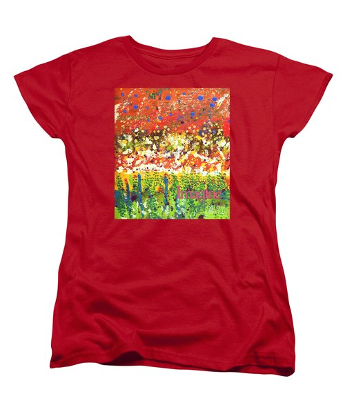 Imagine Happiness Women's T-Shirt (Standard Cut) by Angela L Walker