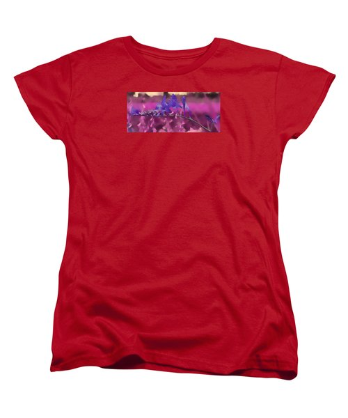Women's T-Shirt (Standard Cut) featuring the photograph In A Pink World by Milena Ilieva