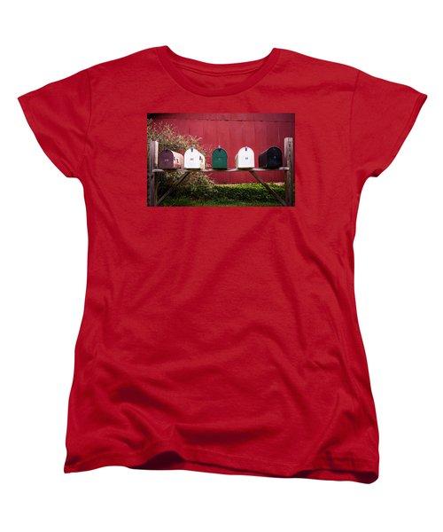 In A Row Women's T-Shirt (Standard Cut) by Parker Cunningham
