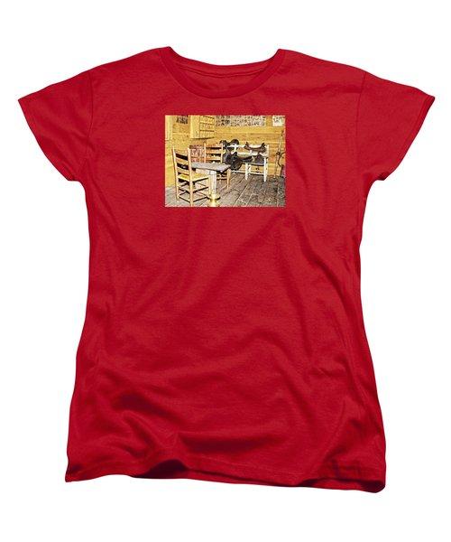 In The Barn Women's T-Shirt (Standard Cut) by Susan Leggett