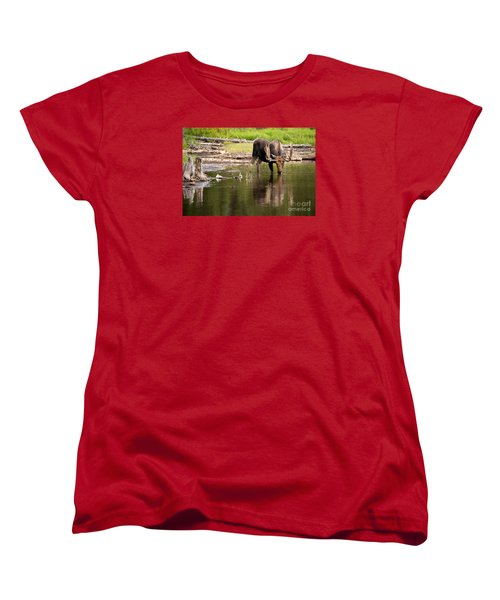 In The Drink Women's T-Shirt (Standard Cut) by Aaron Whittemore