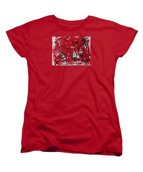 Women's T-Shirt (Standard Cut) featuring the painting In  The Midst Of Passion by Sharyn Winters