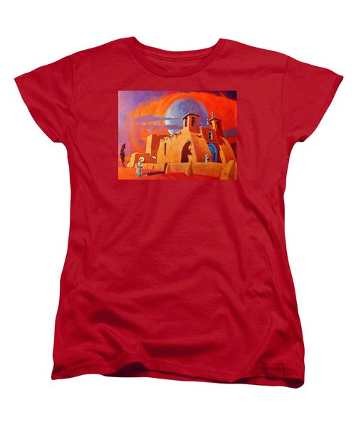 Women's T-Shirt (Standard Cut) featuring the painting In The Shadow Of St. Francis by Art West
