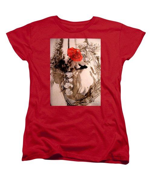 In The Winter Garden Women's T-Shirt (Standard Cut) by Nancy Kane Chapman