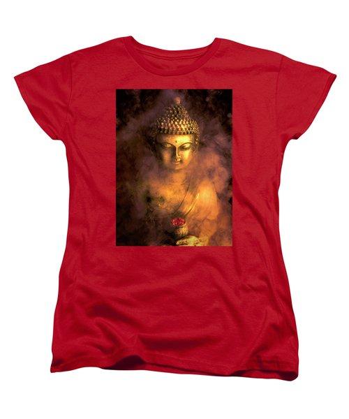 Women's T-Shirt (Standard Cut) featuring the photograph Incense Buddha by Daniel Hagerman