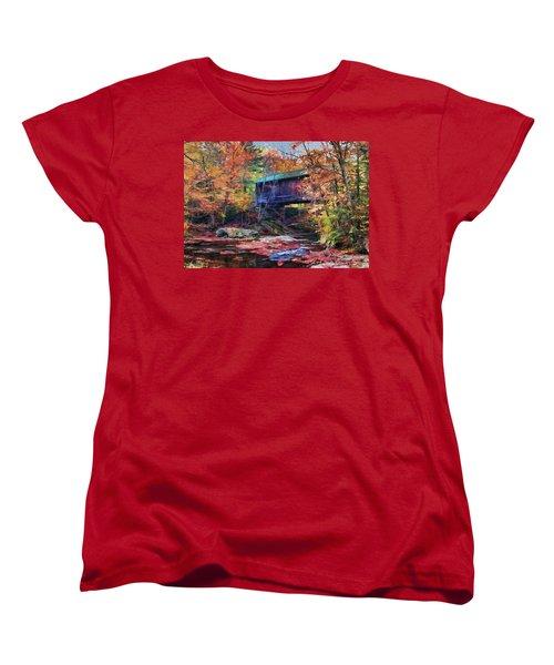 Indian Summer Women's T-Shirt (Standard Cut) by John Selmer Sr