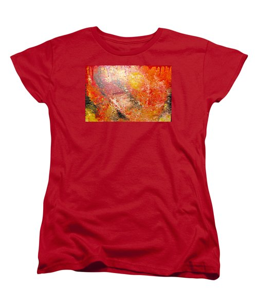 Women's T-Shirt (Standard Cut) featuring the painting Inferno by Jacqueline Athmann