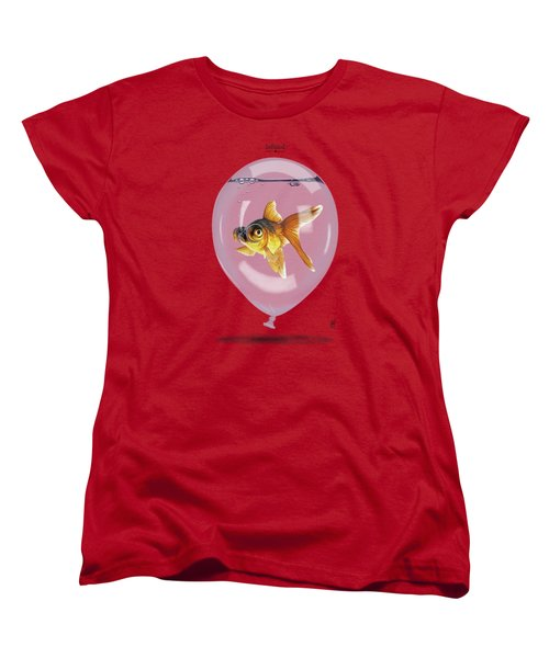 Inflated Women's T-Shirt (Standard Cut) by Rob Snow