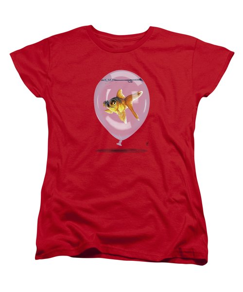 Inflated Wordless Women's T-Shirt (Standard Cut) by Rob Snow