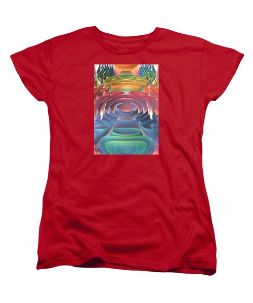 Women's T-Shirt (Standard Cut) featuring the digital art Inner Sanctum by Lyle Hatch
