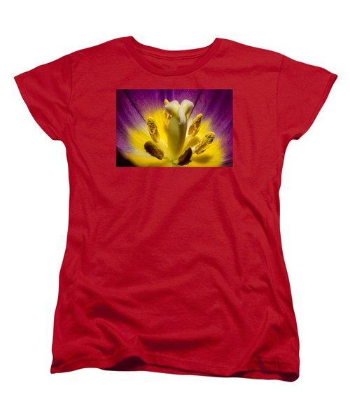 Inside A Purple Tulip Women's T-Shirt (Standard Cut) by Rainer Kersten