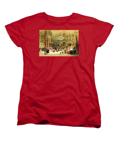 Inside The Church Of The Holy Sepulchre Women's T-Shirt (Standard Cut) by Munir Alawi
