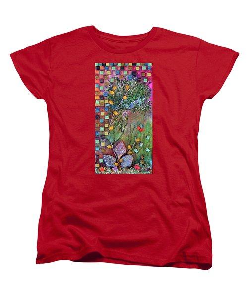Inside The Garden Wall Women's T-Shirt (Standard Cut) by Donna Blackhall