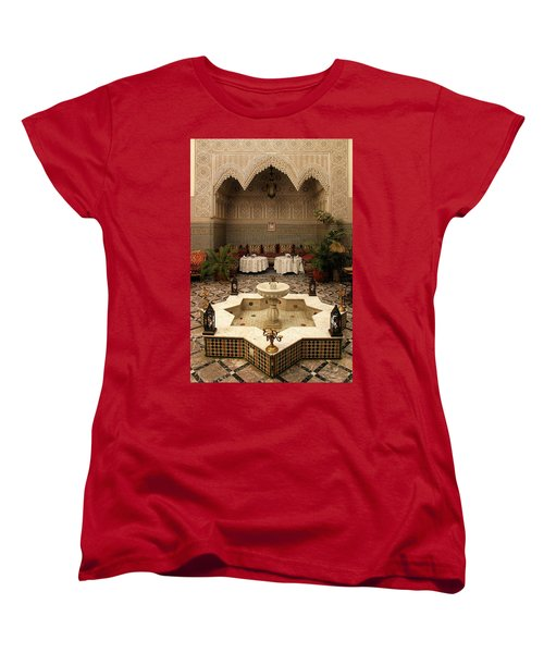 Interior Of A Traditional Riad In Fez Women's T-Shirt (Standard Cut) by Ralph A  Ledergerber-Photography