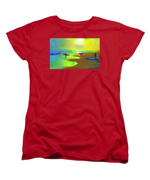 Into The Surf Women's T-Shirt (Standard Cut) by Caito Junqueira