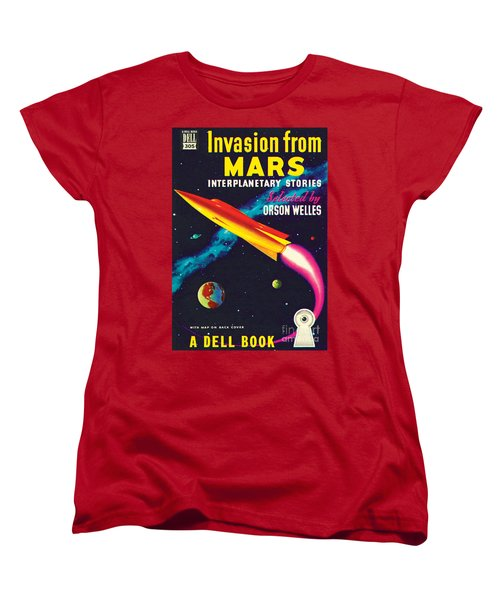 Women's T-Shirt (Standard Cut) featuring the painting Invasion From Mars by Malcolm Smith
