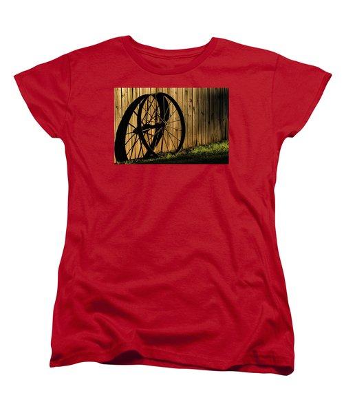 Iron Wheel Women's T-Shirt (Standard Cut) by Jay Stockhaus