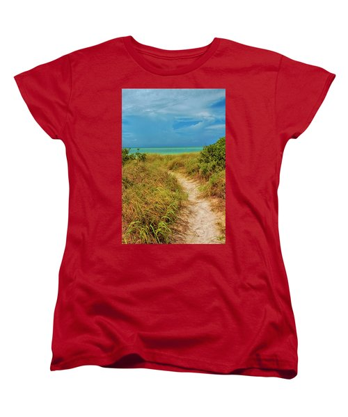 Island Path Women's T-Shirt (Standard Cut) by Swank Photography