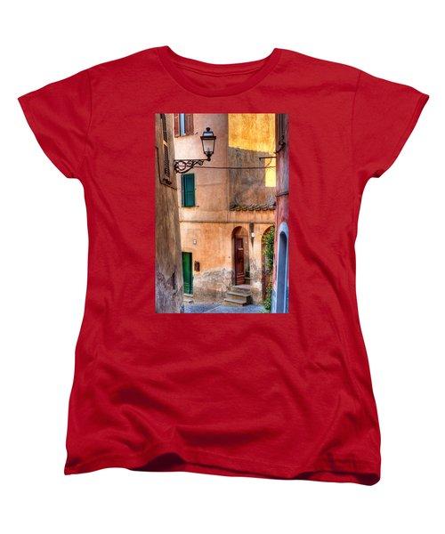 Italian Alley Women's T-Shirt (Standard Cut) by Silvia Ganora