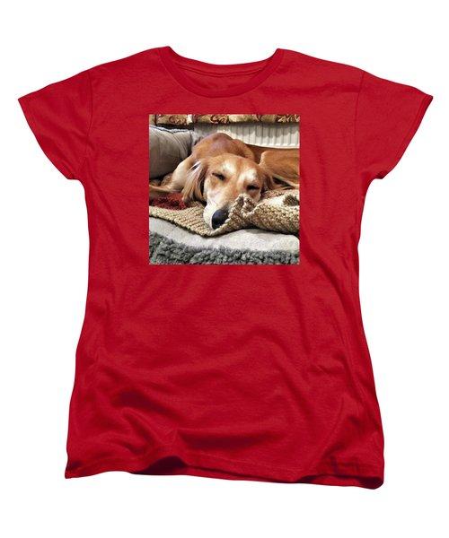It's Been A Hard Day...  #saluki Women's T-Shirt (Standard Cut) by John Edwards