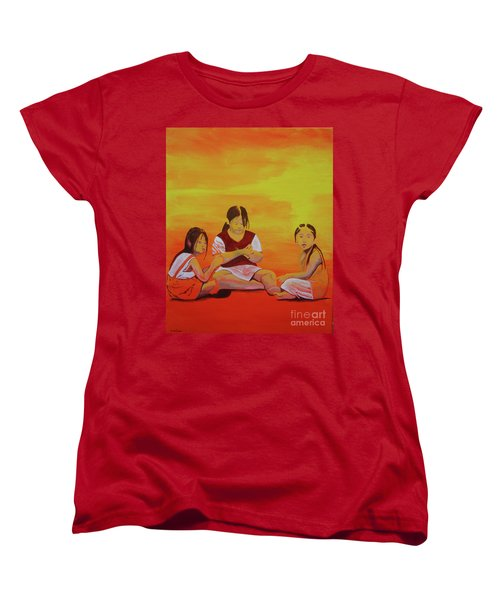 Women's T-Shirt (Standard Cut) featuring the painting It's Called Global Warming by Stuart Engel