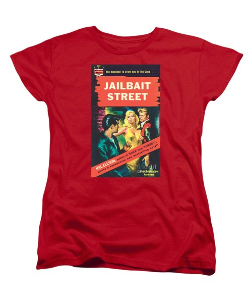 Women's T-Shirt (Standard Cut) featuring the painting Jailbait Street by Ray Johnson