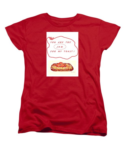 Women's T-Shirt (Standard Cut) featuring the drawing Jam For My Toast by Denise Fulmer