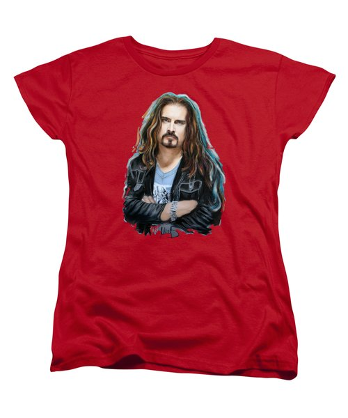 James Labrie Women's T-Shirt (Standard Cut) by Melanie D