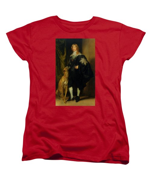 Women's T-Shirt (Standard Cut) featuring the painting James Stuart - Duke Of Richmond And Lennox                       by Anthony Van Dyck