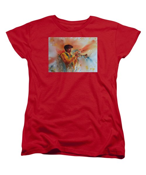 Jazz Man Women's T-Shirt (Standard Cut) by Ruth Kamenev