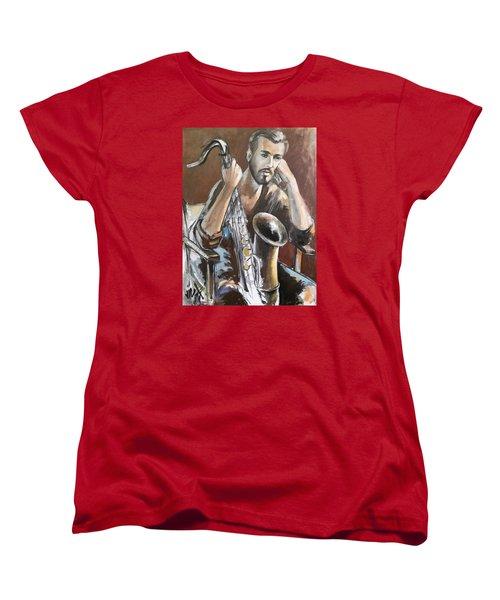 Jazz Women's T-Shirt (Standard Cut) by Vali Irina Ciobanu
