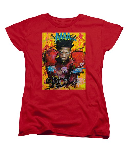 Jean-michel Basquiat Women's T-Shirt (Standard Cut) by Richard Day