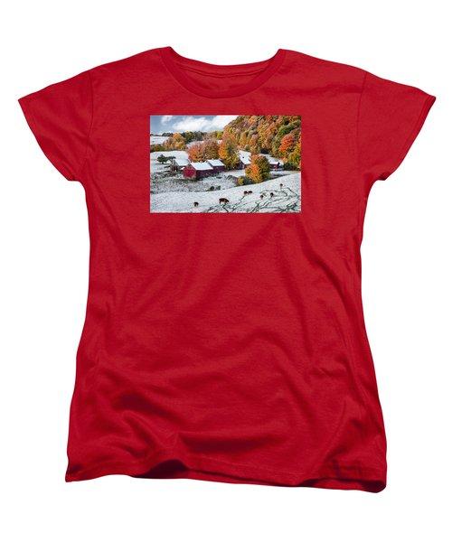 Women's T-Shirt (Standard Cut) featuring the photograph Jenne Farm, Reading, Vt by Betty Denise