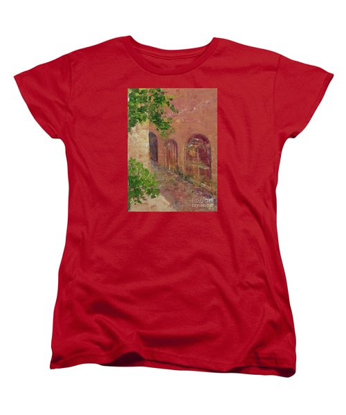 Jerusalem Alleyway Women's T-Shirt (Standard Cut) by Gail Kent